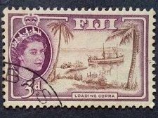 Buy Fiji .1954.Queen Elizabeth II. Loading Copra SG.285.