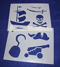 Buy Pirate Stencils 2 Piece Set 14 Mil -Mylar Painting/Crafts/Stencil/Template