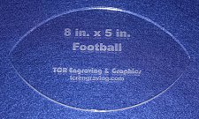 "Buy Football Shaped Quilting Template- Acrylic - Long Arm/Hand Sew - 1/4"" Acrylic"