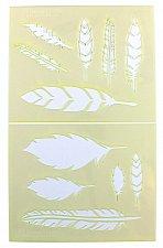 Buy Feather Stencils-2 Piece Stencil Set -Mylar 14 Mil Painting/CraftsTemplate