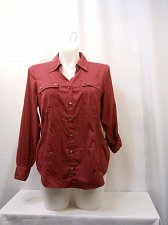 Buy PLUS SIZE 0X 1X Womens Button Down Shirt STYLE&CO.Solid Long Roll Sleeves