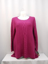 Buy Womens Tunic Sweater STYLE&CO SIZE XL Solid Violet Long Sleeves Scoop Neck
