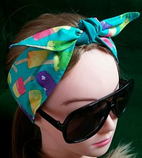 Buy Headband Hair Wraptie Bandana Popsicles Print self tie 100% Cotton hand made
