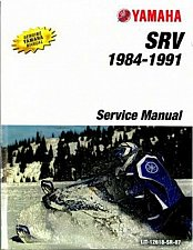 Buy 1984-1991 Yamaha SR 540 SRV ( SR540 ) Snowmobile Service Manual on a CD
