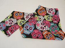 Buy SIZE L Women Skull Leggings Multi Colored Skulls Skinny Legs Mid Rise Inseam 29