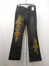 Buy Womens Jeans SIZE 5-6 Boot Cut Legs Dark Wash Embellished 30X32