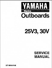 Buy Yamaha 25 30 Hp 2-Stroke ( 25V3 , 30V ) Outboard Motors Service Manual on a CD