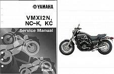 Buy 1985-2008 Yamaha V-Max 1200 ( VMAX - VMX1200 ) Service & Parts Manual on a CD
