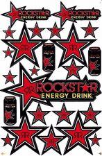 Buy 1 sheet New stickers/decals Rockstar Energy Motocross ATV Racing Freeshipping 02