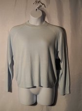 Buy Women Sweater SIZE XL DEBBIE MORGAN Blue Moon Long Sleeve Crew Neck Thin Knit