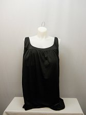 Buy PLUS SIZE 40 Women 2PC Shirred Yoke Swimdress SWIM365 Solid Black Scoop Neck