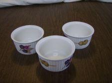 Buy 3 Porcelain ROYAL WORCESTER Custard SOUFFLE Gold Trim Ramekin Olive Berries