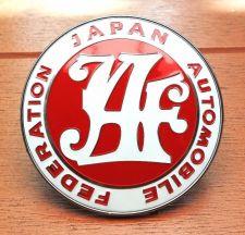 Buy Universal JDM JAF Japan Automotive Federation emblem Front badge Red
