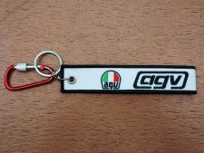 Buy 1 Embroidered Fabric Strap AGV Keychain Keyring Key Holder Tag Motorcycle