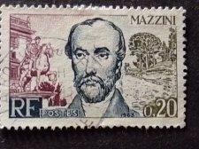 Buy France 1v used 1963 stamp MI 1434 Giuseppe Mazzini (1805-1872)