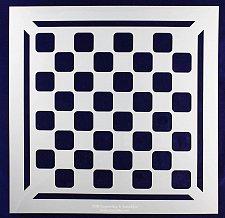 "Buy Checker/Chess Board w/Border Stencil 14 mil Mylar-15"" x 15""- Painting/Template"