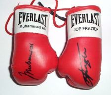Buy Ali V Frazier Autographed mini Boxing gloves (highly collectable)