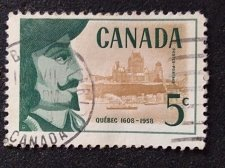 Buy Canada postage stamp 1v Used Quebec 1608-1958