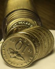 Buy Gem Unc Roll (50) Malaysia 1997 10 Sen Coins~Ceremonial Table~Free Shipping