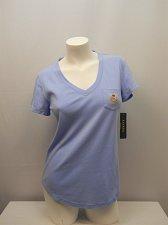 Buy SIZE S Women Sleepshirt LAUREN RALPH LAUREN INTIMATES Blue Short Sleeves V-Neck