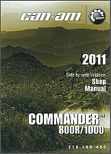 Buy 2011-2012 Can-Am Commander 800R / 1000 LTD Service Manual on a CD