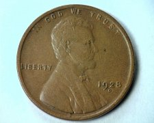 Buy 1928-D LINCOLN CENT PENNY ABOUT UNCIRCULATED+ AU+ NICE ORIGINAL COIN BOBS COINS