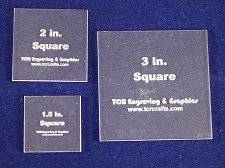 """Buy 3 Piece Square Set 1.5"""", 2"""", 3"""" 1/8"""" Clear Acrylic - Quilting Template- No seam"""
