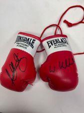 Buy Anthony Joshua V Wladimir Klitschko Autographed Mini Boxing Gloves