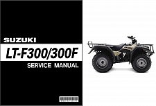 Buy 1999-2004 Suzuki KingQuad LT-F300 / LT-F300F ATV Service Repair Manual on a CD