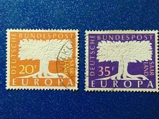 Buy Europa 2v 1957 Germany Used Set of 2 theme Peace and Welfare.