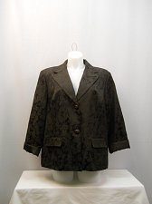 Buy PLUS SIZE 26W-28W Womens Blazer GEORGE Brown Floral Long Sleeves Collared Lined