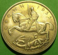 Buy Great Britain 1935 Silver Crown~Incuse Edge Incription~