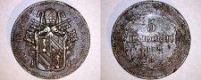 Buy 1852-VIR Italian States Papal States 5 Biaocchi World Coin - Pius IX
