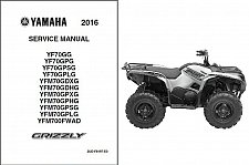 Buy 2016 Yamaha Grizzly 700 ATV (YF70, YFM70, YFM700) Service Manual on a CD