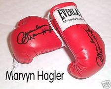 Buy Autographed Mini Boxing Gloves Marvyn Hagler
