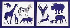 Buy Safari Animal Stencils- 2 Pc Set- 8 x 10 -14 mil Mylar Painting/Crafts