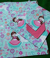 Buy Girls princesses unicorns placemat 2 ply napkin set handmade cotton