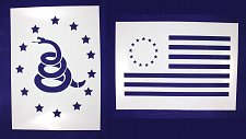 Buy LG-Don't Tread on Me/Revolutionary War 2 PC Stencil Set Painting/CraftsTemplate