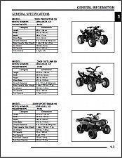 Buy 2009 Polaris Predator 50 / Outlaw 90 / Sportsman 90 Service Repair Manual CD