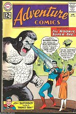 Buy ADVENTURE COMICS #295 DC COMICS 1962--KOOKIE Super-Ape VG SUPERBOY +Bizarro
