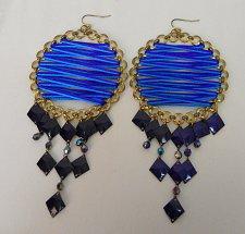 Buy Women Fashion Extra Large Drop Dangle Earrings Multi Color AMI Hook