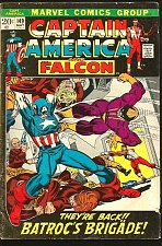 Buy Captain America #149 Falcon Marvel Comics BATROC Conway Sal Buscema Stan Lee1972