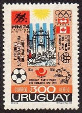 Buy Uruguay 1v mnh Stamp 1974 Mi1314 Events of 1974