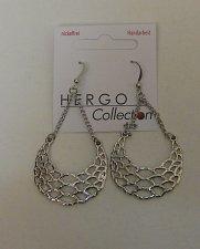 Buy Women Fashion Drop Dangle Earrings Silver Tones HERGO COLLECTION Hook Fasteners