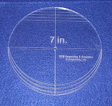 "Buy 7"" Multi Circle Template - NO seam ~ 1/4"" Thick - Long Arm -Multi Use"