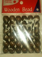 Buy 36 brown wood dreadlock braid Ponytail bracelets hair Extension crafts beads