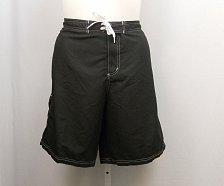 Buy Women Swim Long Board Shorts PLUS SIZE 30 SWIMSUITS FOR ALL Pocket Solid Black