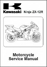 Buy 02-06 Kawasaki Ninja ZX-12R Service Repair Manual CD -- ZX1200 1200 ZX12R ZX