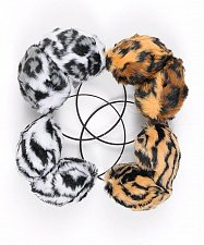 Buy EAR MUFFS Animal Print MADISON AVENUE Winter Fashion Fuzzy Faux Fur Warm