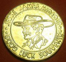 Buy Jesse James Hideout Good Luck 28mm Medallion Stanton Missouri~Free Ship